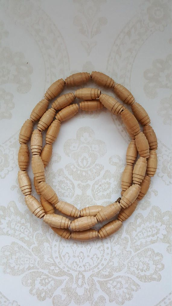 Finnish Vintage wooden necklace Made in the 70s