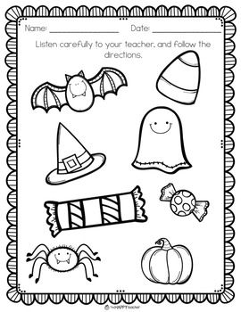 Pumpkin, Fall, Halloween Activities: NO PREP Printables