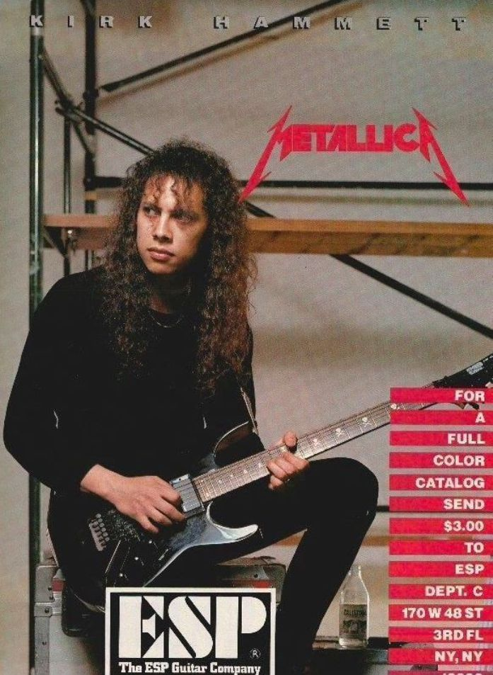 Kirk Hammett For Esp Metallica Black Album Metallica Esp Guitars