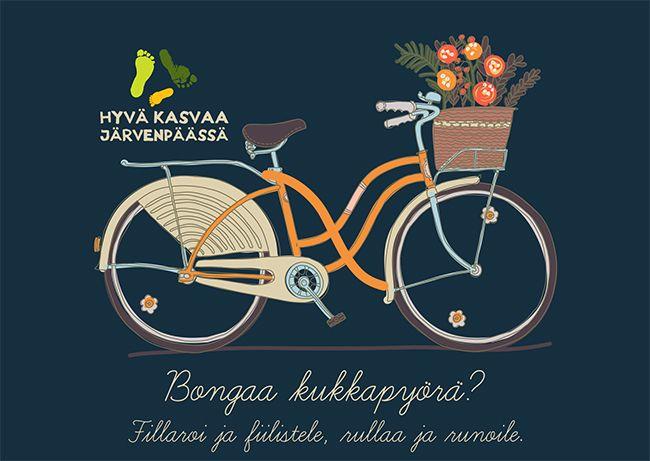 Järvenpään Kukkatalo and a local group of cityactivists (Hyvä Kasvaa järvenpäässä) will create a installation of flowers and bicycles! www.hyvakasvaajarvenpaassa.fi www.jarvenpaankukkatalo.fi