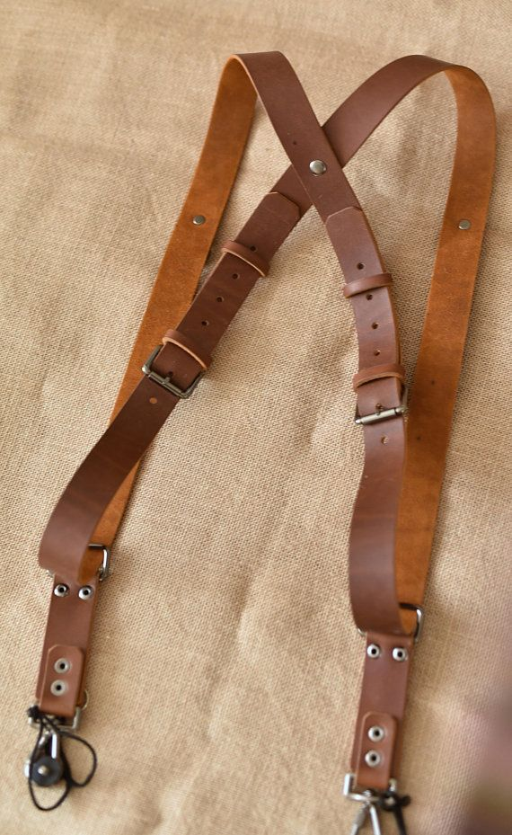 3 Styles Genuine Real Leather Camera Harness Shoulder Strap Belt Brown Colour