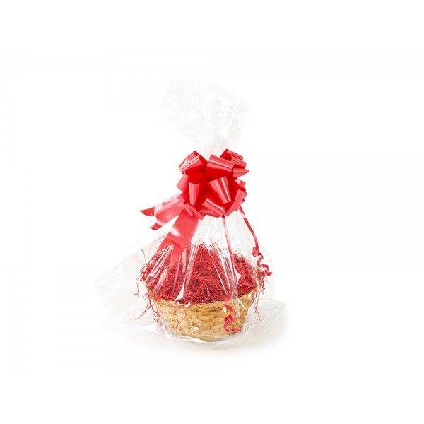 Victoria Basket (Christmas Gift Kit) Red Shred, Red Bow