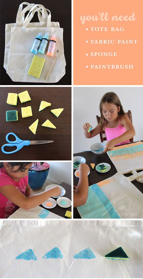 Kids Summer Craft Paint Your Own Beach Tote