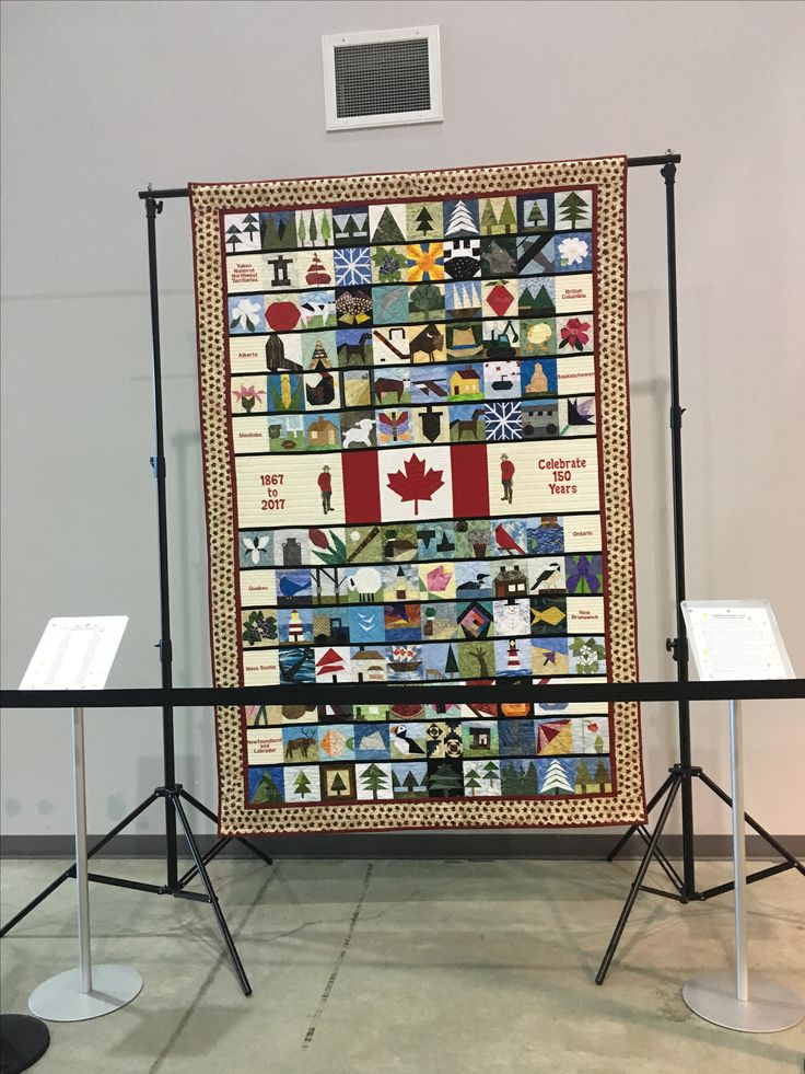 Canada 150 quilt at National Airforce Museum of Canada, CFB Trenton 🇨🇦 #hollywoodnorth