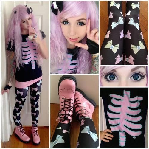 Totes cute pastel goth outfit uwu