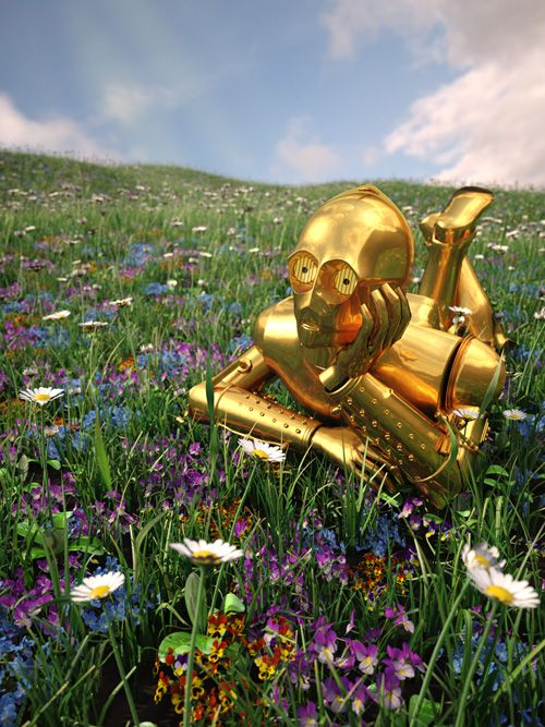 Star Wars on Vacation Art Prints - C-3PO