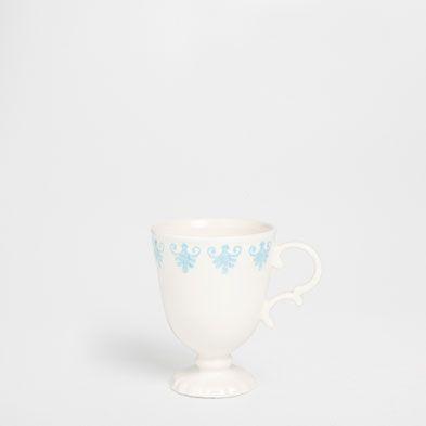 VAJILLA RELIEVE AZUL VERDOSO LOZA - Café y té - Mesa | Zara Home España