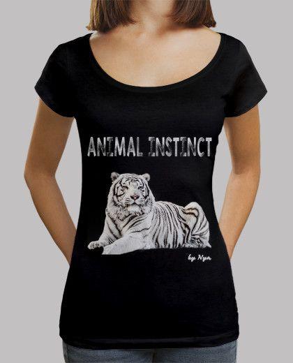 T-shirt da donna scollo amplio & Loose Fit, nero