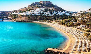 Rhodos har fantastiske strande og dejlige feriebyer. Se mere på www.bravotours.dk @Bravo Tours #BravoTours #Travel