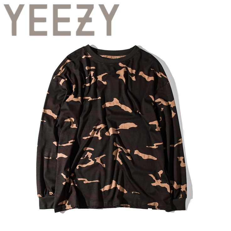 Kanye West YEEZY Camouflage T Shirt 1:1 High Quality SEASON 1 Summer Justin Bieber Clothes  Military Army Camo Cotton T-shirts