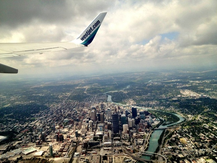 #yyc from the air #aerial #westjet http://www.stampedetoyota.com