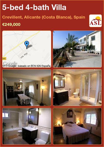 5-bed 4-bath Villa in Crevillent, Alicante (Costa Blanca), Spain ►€249,000 #PropertyForSaleInSpain