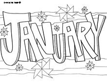 January Coloring Page... all the months