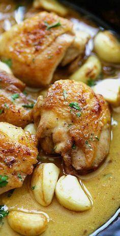 Creamy Garlic Chicken 20 mins to make
