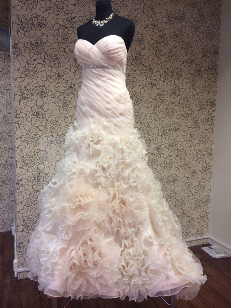 Nydelig brudekjole i pudder rosa ABELONE.NO