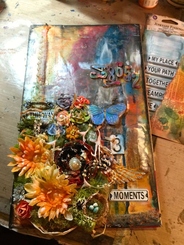 new Blog Post reuse and recycle a TGI Friday's menu into a great Art Journal