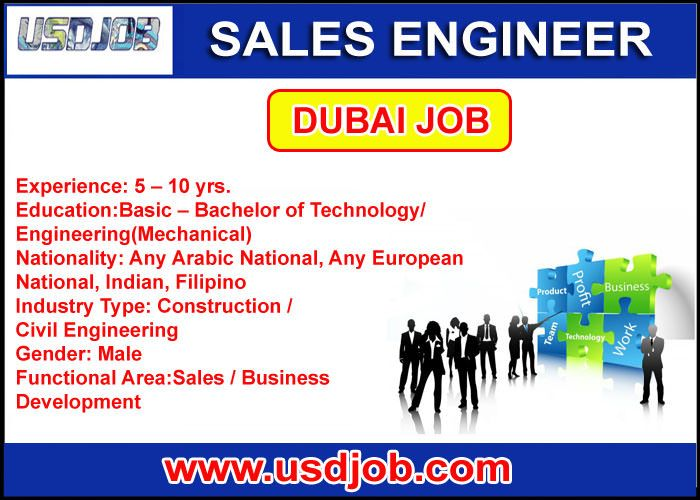 Sales Engineer Jobs In Dubai Bachelor Of Technology No