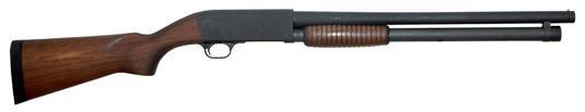 "Ithaca Model 37 Defense 12G, 20"". 8 Shot Extended, Walnut Stock"