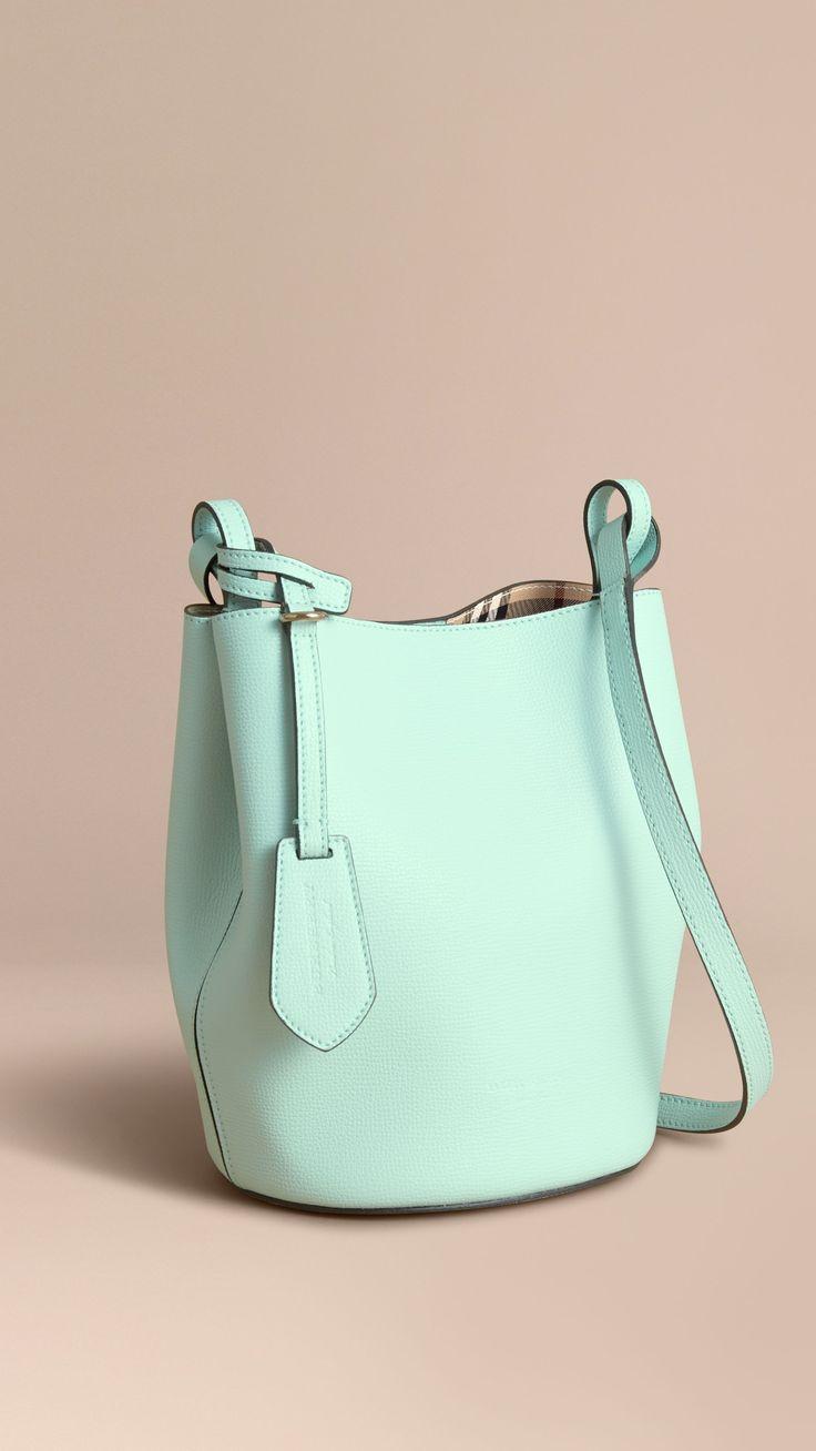 Сумка через плечо Bucket с отделкой в клетку Haymarket Check (Светлый Опал) - Для женщин | Burberry