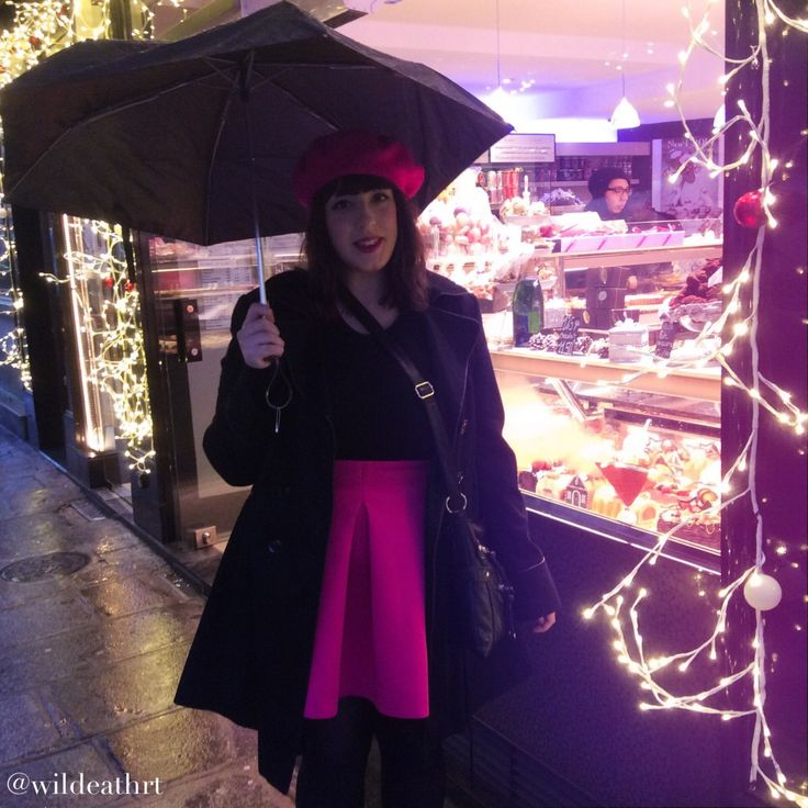Paris outfit, pink of course! December in Paris blog now live: www.WildeAtHeart.com