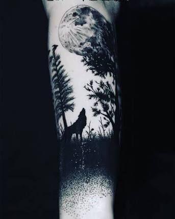 Resultado De Imagen Para Tatto Lobo En Brazo Tatuajes Pinterest