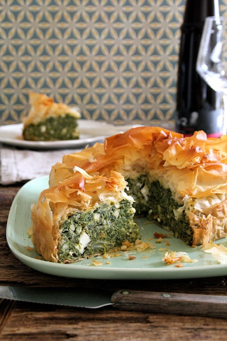 - Spinat-Feta Pai - filo pastry, frozen spinach,feta cheese and pine nuts