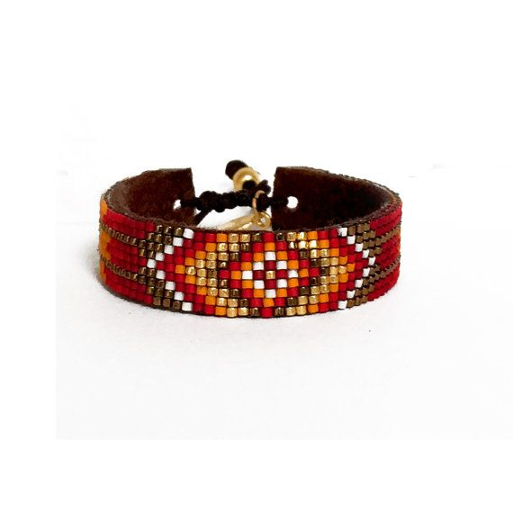 Boho Chic Miyuki Beaded Aztek Bracelet