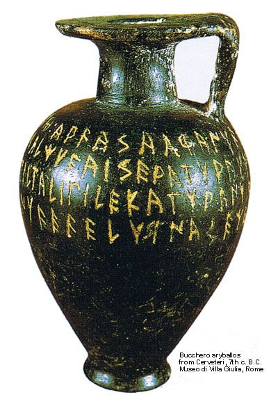 Etruscan short inscriptions
