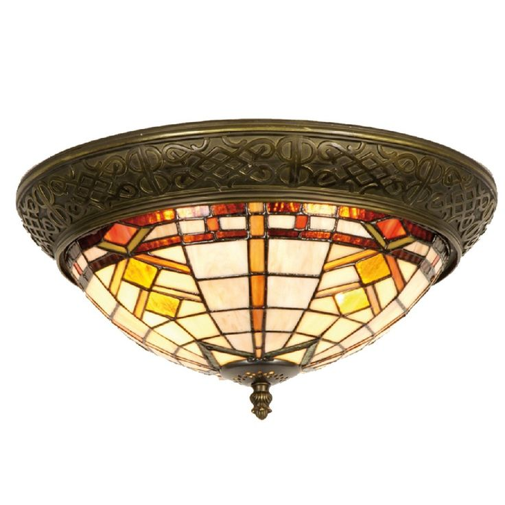 Prairie Tiffany Flush Ceiling Light by Tiffany Lighting Direct. Discover our Range, special offers of Tiffany Lamp, Art Deco and Traditional Lighting , free delivery.