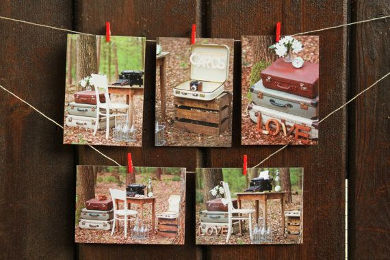 Postcard set Vintage photoshoot in the woods  by CardceteraCards, €3.95