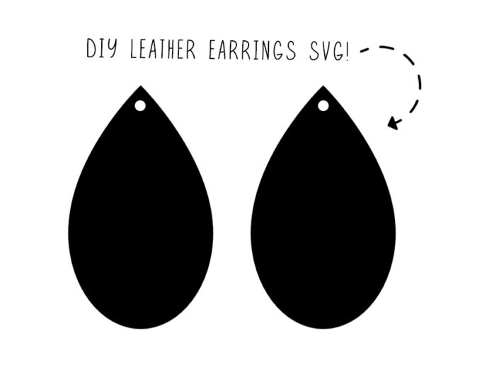 Download Leather Earring Svg File Free | Diy leather earrings, Free ...