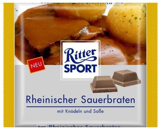 Ritter Sport Rheinischer Sauerbraten. Mit Knödeln und Soße