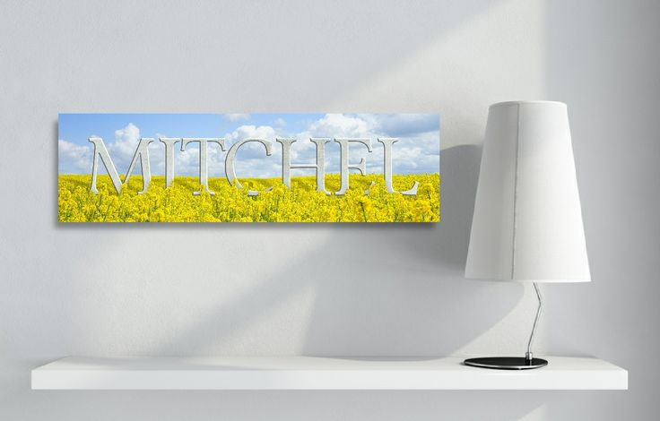 Field of Flowers Acrylic Name Art