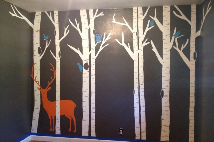 Forest Nursery Mural Hand Painted Boy S Room Ideas