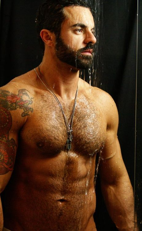 157 best images about muscle and ink on pinterest sexy for Slippery when wet tattoo