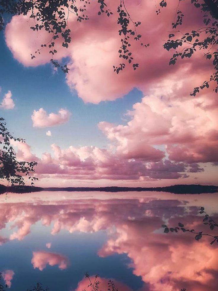 İnsanın içine huzur geliyor Pastel pink aesthetic Aesthetic wallpapers Landscape photos