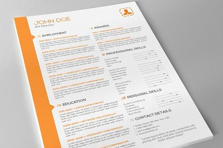 Creativemarket Resume & Cover Letter Template 23213