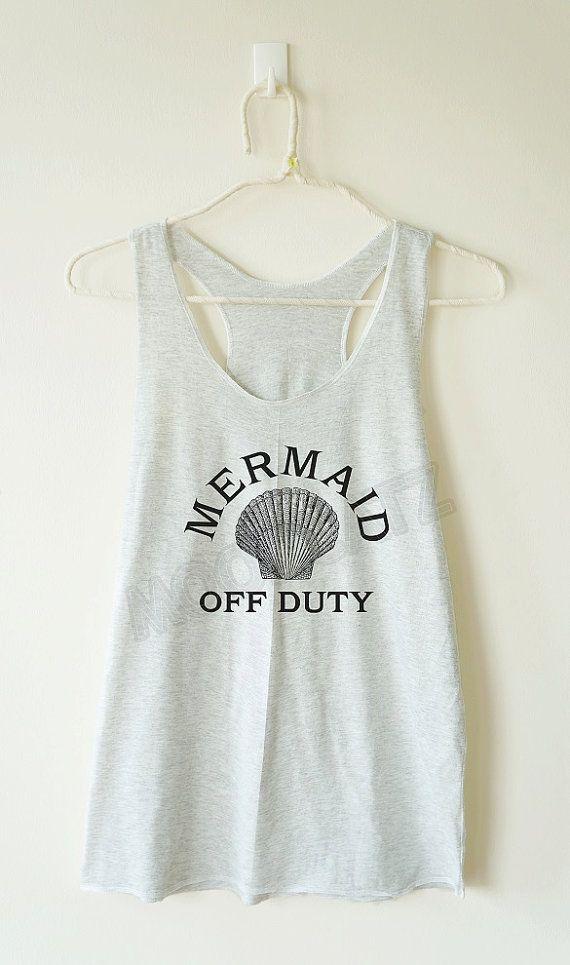 Mermaid off duty shirt mermaid shirt funny shirt cool by MoodCatz