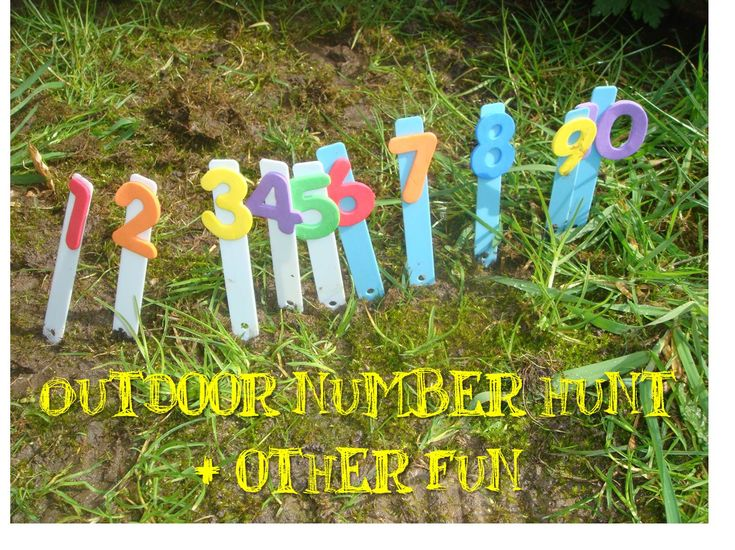 Outdoor Number Hunt & Other Fun!