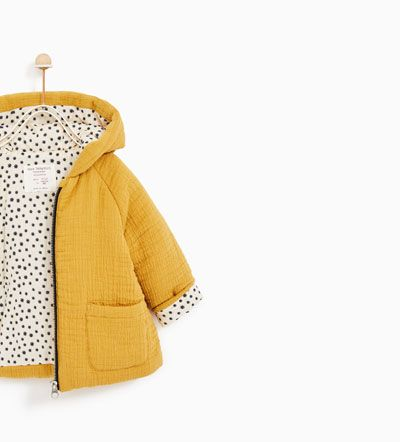 CREPE JACKET WITH HOOD-OUTERWEAR-BABY GIRL | 3 months - 4 years-KIDS | ZARA United States