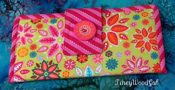 HANDMADE Eye Popping Lime Green Hot Pink Neon by PineyWoodGal, $40.00