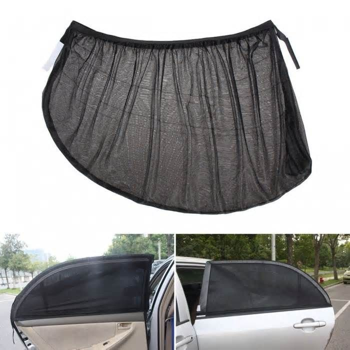 UV Protection Adjustable Car Auto Side Rear Window Sun Shade Mesh Cover, Visor Shield Sunshade - Black (2 PCS) All packages from DX.com are sent without DX logo or any information indicating DX.com. Due to package variations from suppliers, the product packaging customers receive may be different from the images displayed.