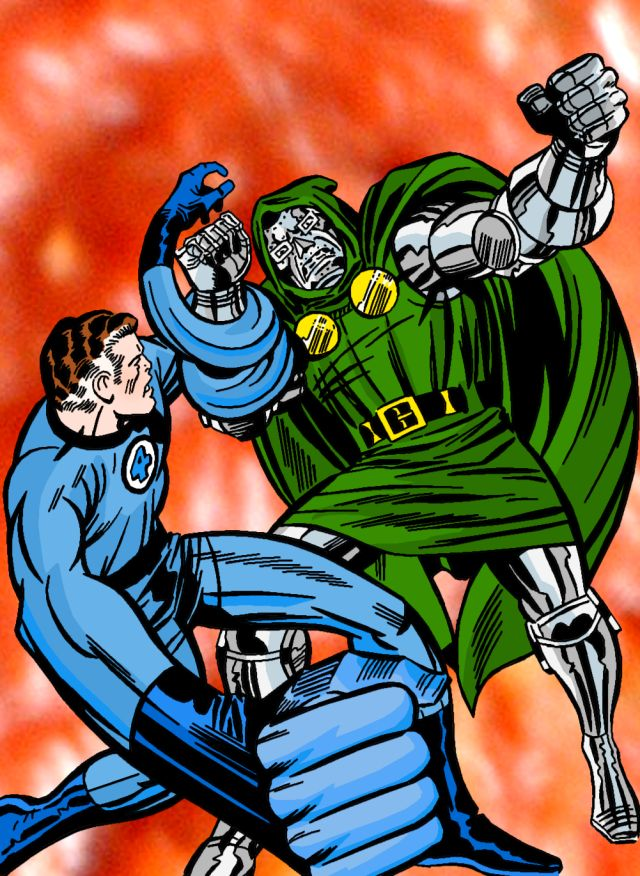 "#74 ""Are You Challenging Me?"" Mister Fantastic vs Doctor Doom Original by Jack Kirby"