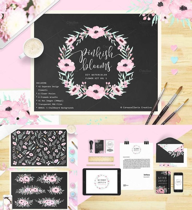 Free download and free printable Pink Bloom Wedding Invitation Cards, this kit contains 42 separated design elements (flowers, berries, twigs) to create combinations. Perfect for DIY cards, invitations, labels, posters, your own logo and business cards, etc.
