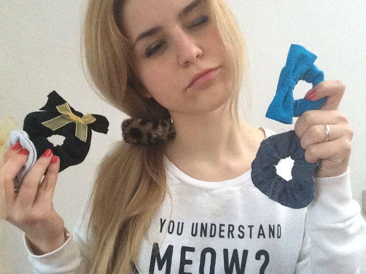 DIY GOMAS DE PELO ¡Lleva tu cabello a la moda! Accesorios Scrunchie  Perfect kawaii and cute DIY for Hair