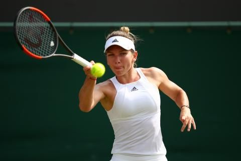 Simona Halep charged into the Wimbledon quarterfinals in commanding style, taking down former World No.1 Victoria Azarenka in straight sets to strengthen her own bid for the WTA's top ranking.