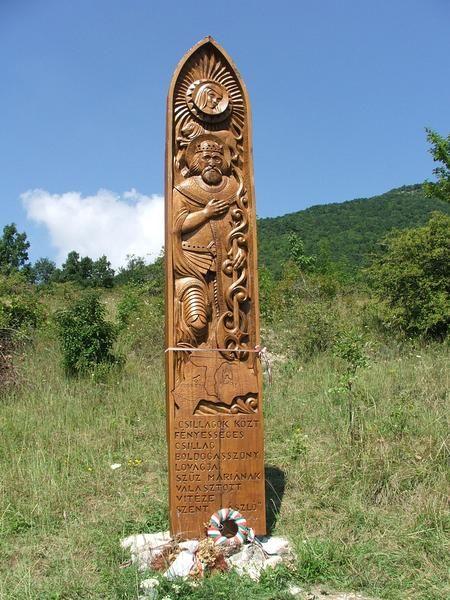 Szent László király szobra Pilisszántón