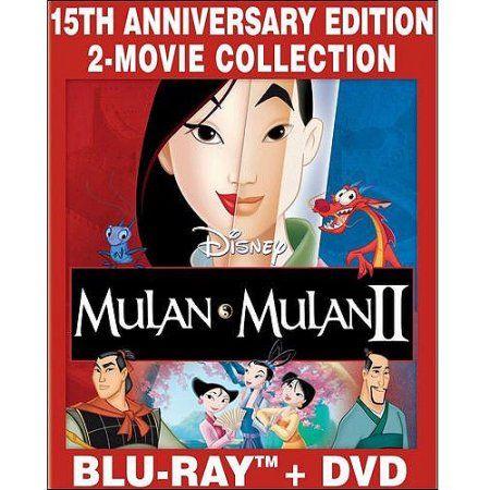Mulan / Mulan II (Blu-ray + DVD) (Widescreen) - Walmart.com