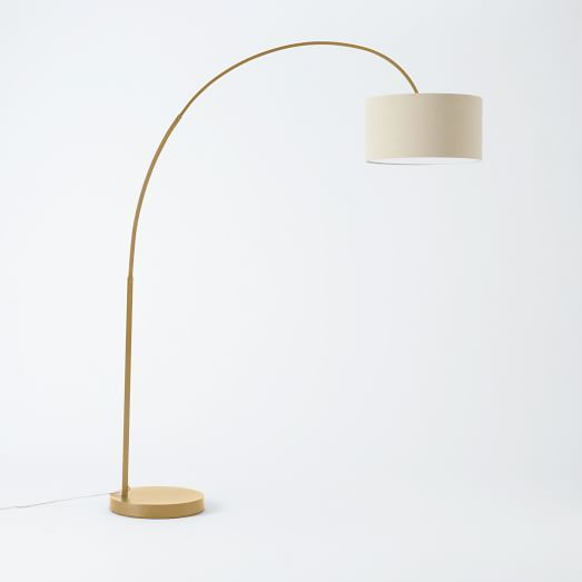 Overarching Floor Lamp- Antique Brass | West Elm (can't decide between the shade colors)