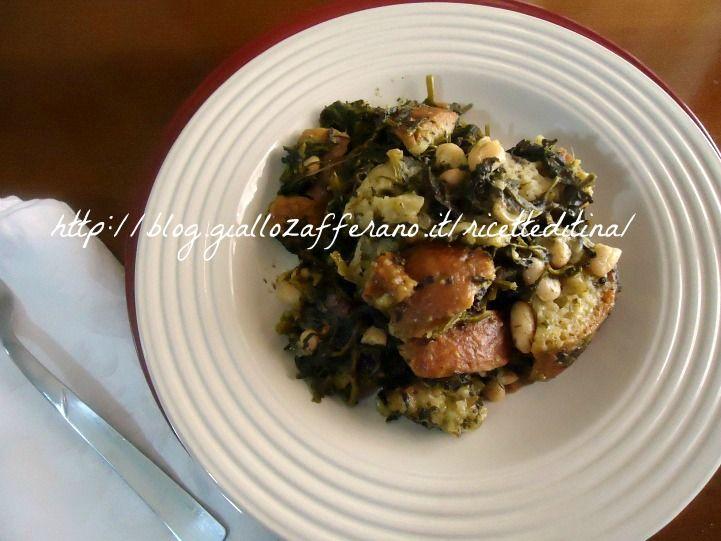 Cucina regionale campana:Pane cotto con broccoli neri